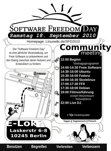 Flyer Software Freedom Day 2010 Berlin